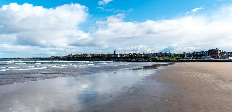 Saint Andrews from the Beach, Fife, Scotland