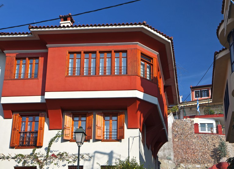 Traditional house located in Ano Poli, in Thessaloniki, Greece