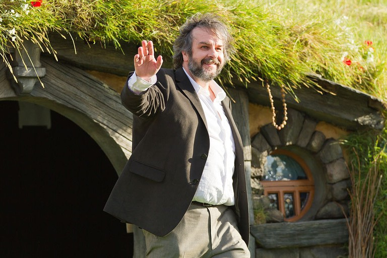 Sir Peter Jackson at the world premiere of The Hobbit: An Unexpected Journey
