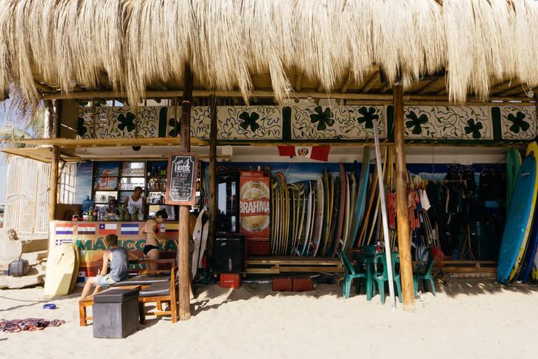 Surf Shop & Café in Mancora, Peru