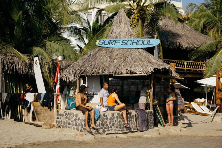 Surf School in Mancora, Peru