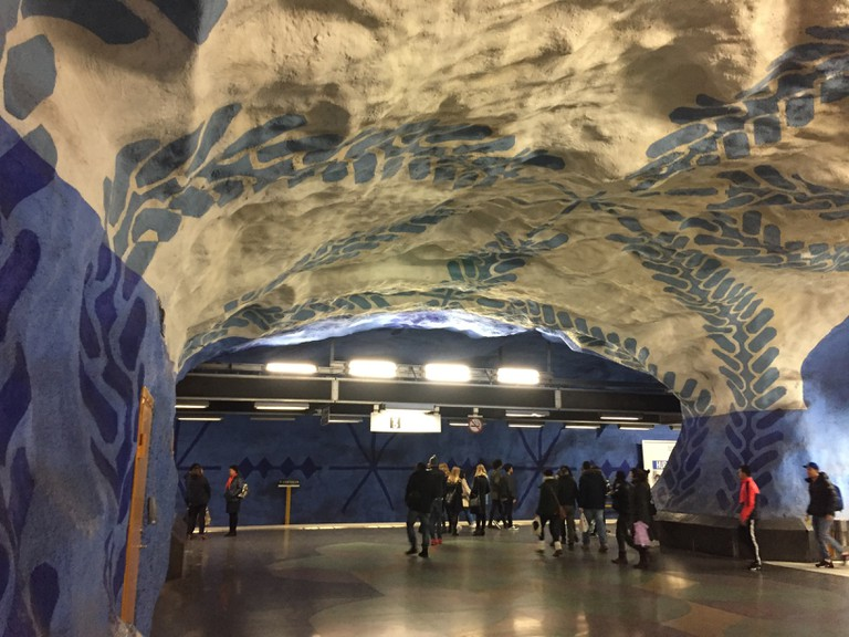 Stockholm T-Centralen metro station art   © Farihah Choudhury