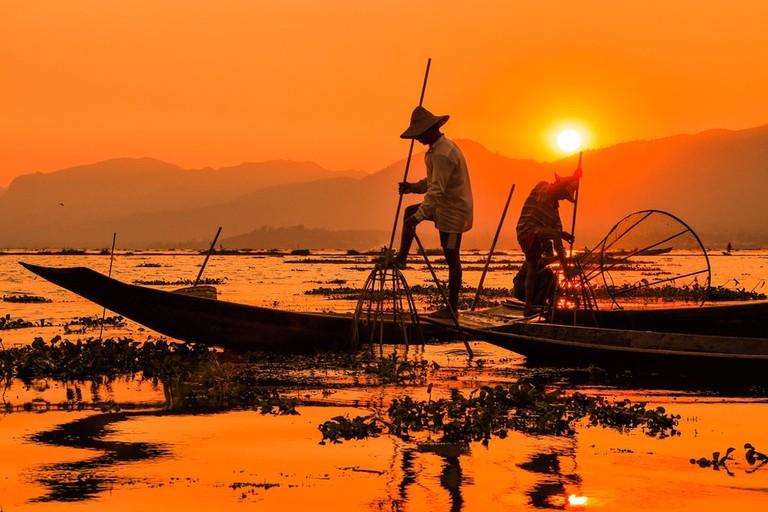 Sunset-at-Inle-Lake-Myanmar