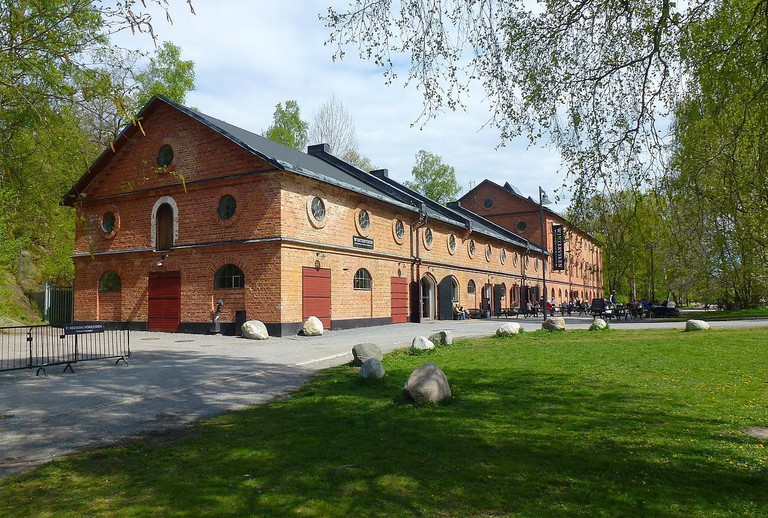 The exterior of one of Nobel's old factories at Vinterviken