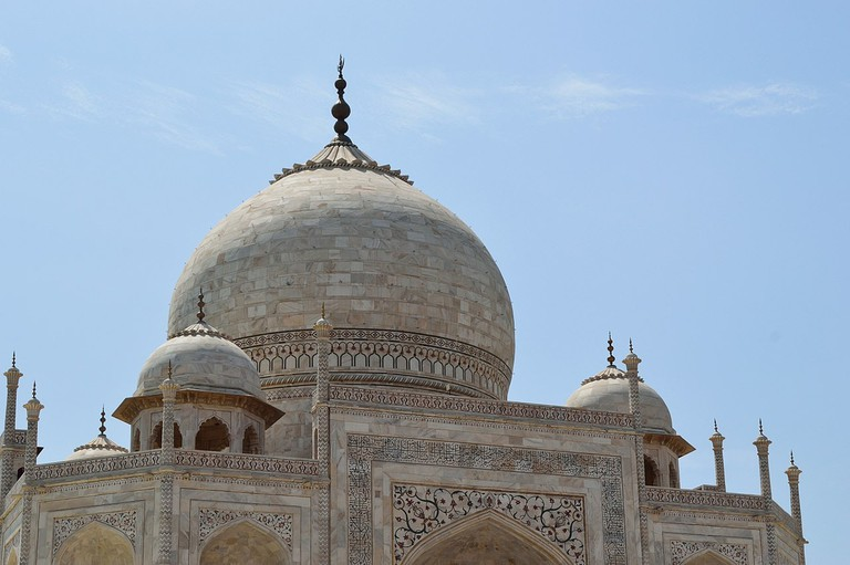 The white marble, one of the main materials the Taj is constructed with, has faced damage due to acid rains caused by increased levels of pollution in the region