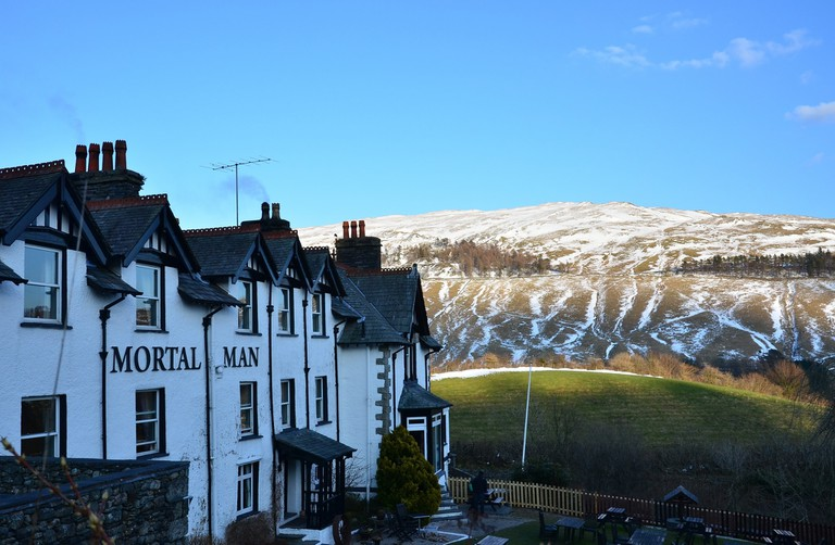 The Mortal Man pub in Troutbeck, Cumbria