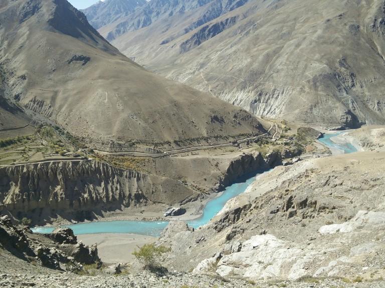 A view of the Zanskar Valley
