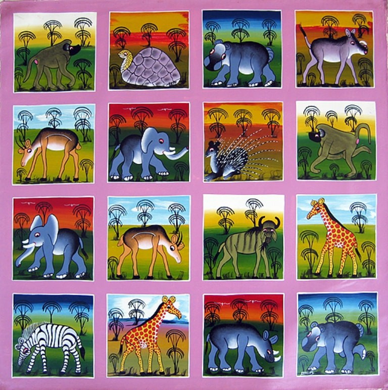 Tingatinga style painting