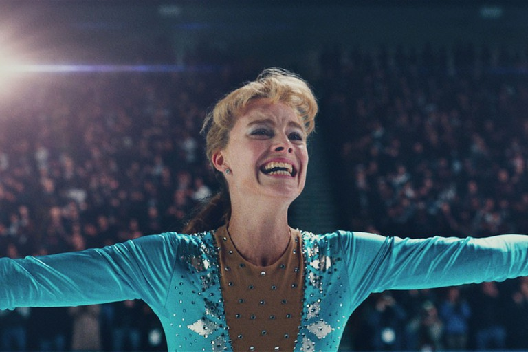 Tonya Harding (Margot Robbie) after performing the triple axel at the 1991 U.S. Championships