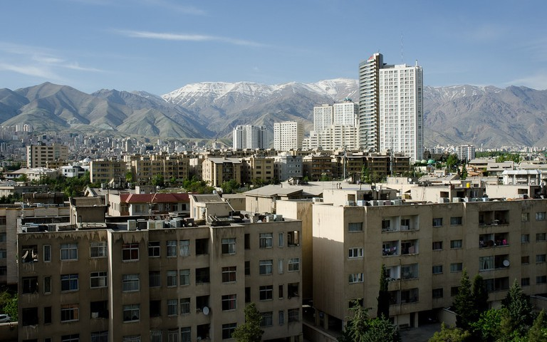 View of the Alborz Mountains from Northern Tehran