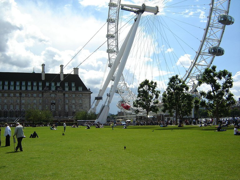 View of the London Eye from Victoria Gardens