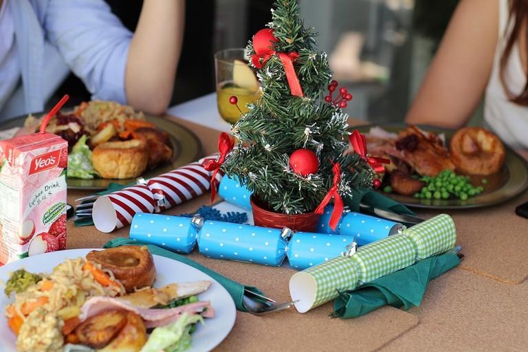 Family enjoying a Christmas meal