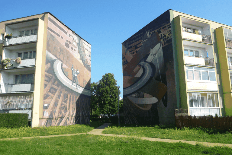 Wall murals of Zaspa