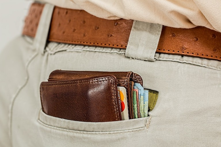 Money, credit cards, wallet