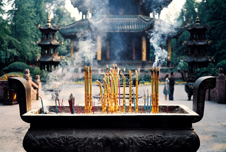 Incense at Qing Yang Gong Daoist Temple, Chengdu