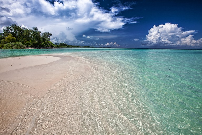 Widi Islands white sand beach