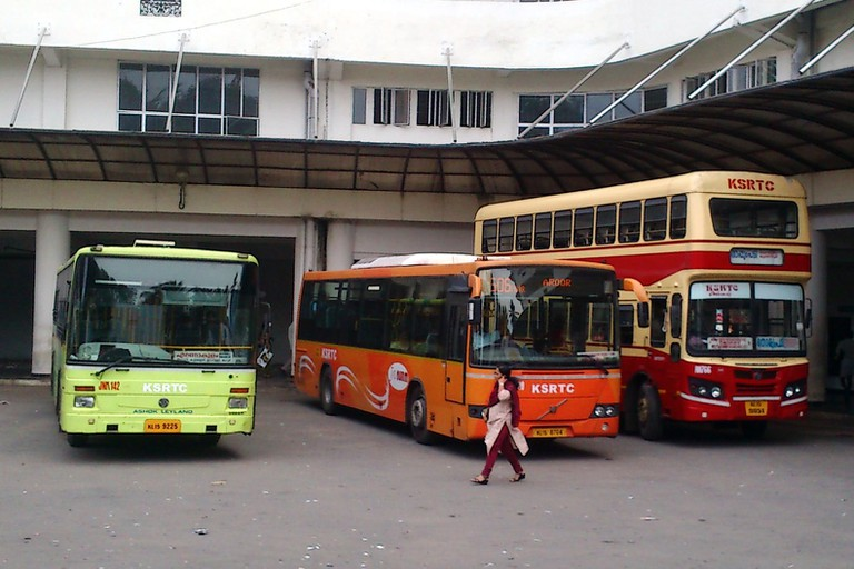 KSRTC buses are available in various forms, from slow to fast, such as Ordinary, Fast Passenger, Limited Stop, Super Fast