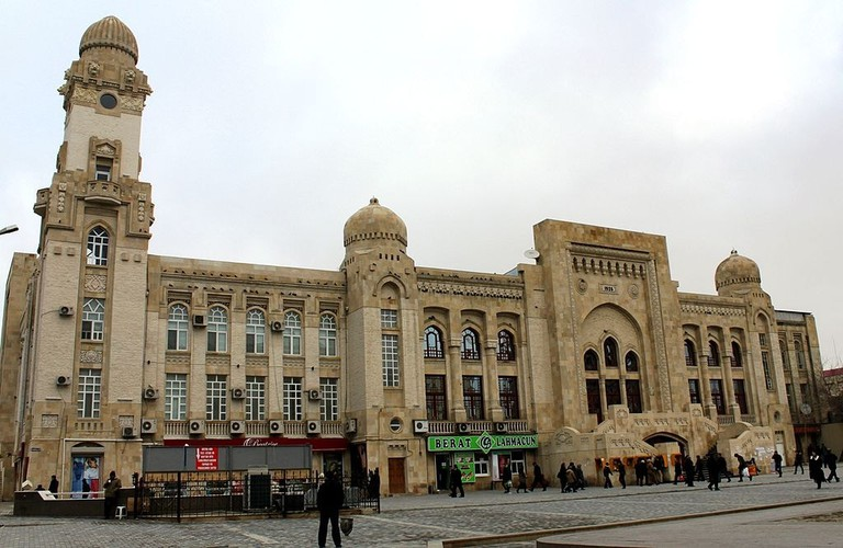 One of the iconic buildings near 28 May station in Baku