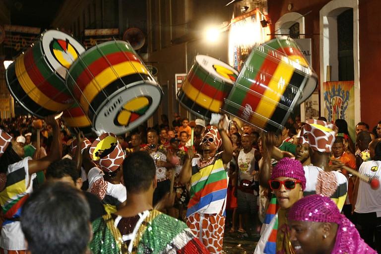 Vibrant street parties in Salvador