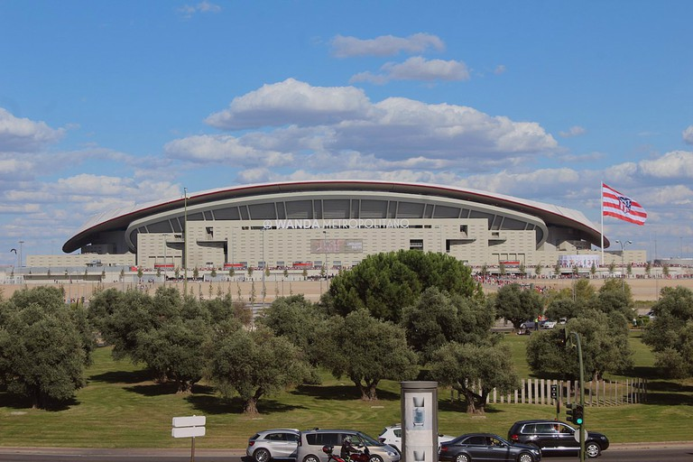 The Wanda Metropolitano is located to the north-east of Madrid