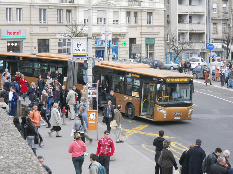 Belgrade's buses come in all sorts of colours and qualities