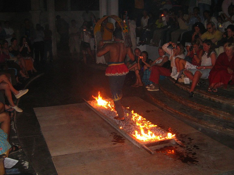 The ritual of Thimithi originated in Tamil Nadu, but is also practised in several countries including Sri Lanka
