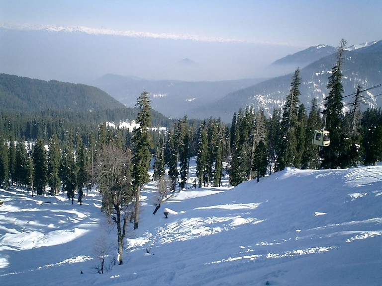 Gulmarg in Kashmir has become a world-renowned skiing destination in recent years
