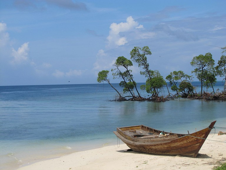 Havelock Island (Pictured) is one of the most popular tourist attractions in the Andaman & Nicobar archipelago