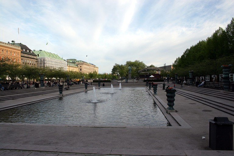 Kungsträdgården is right in the center of the city