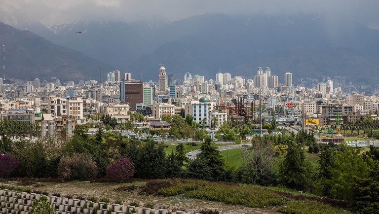 A view of northern Tehran