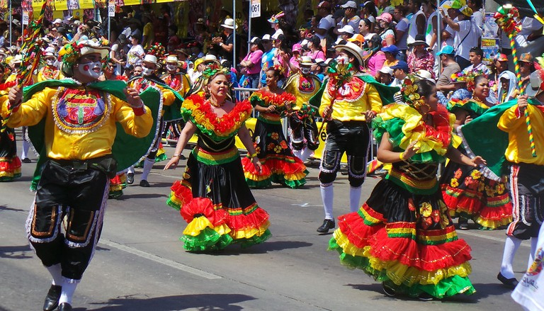 A parade at the Barranquilla Carnival