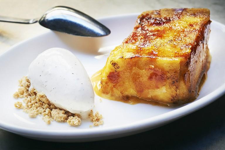 Torrija and ice-cream