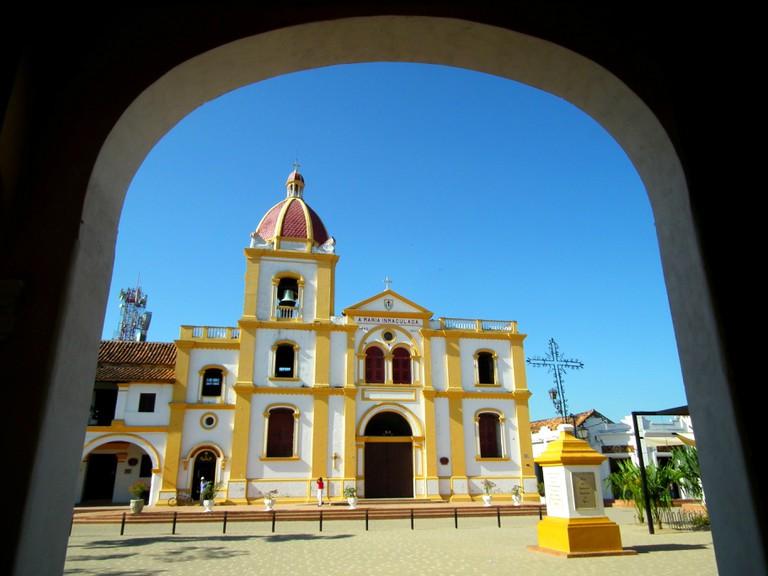 The beautiful church of Mompox