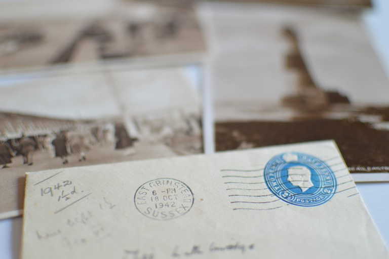 Vintage letter and stamps
