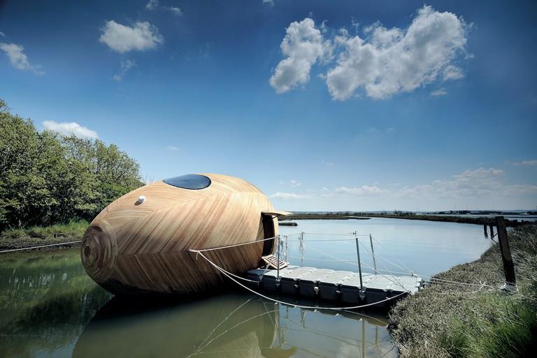 Exbury Egg, PAD Studio, SPUD Group, and Stephen Turner, 2013, Beaulieu River, Hampshire, UK