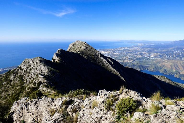 View from the peak of Marbella's La Concha mountain