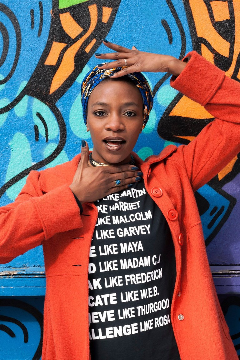 Nasheeka Nedsreal, performance artist and founder of Soul Sisters
