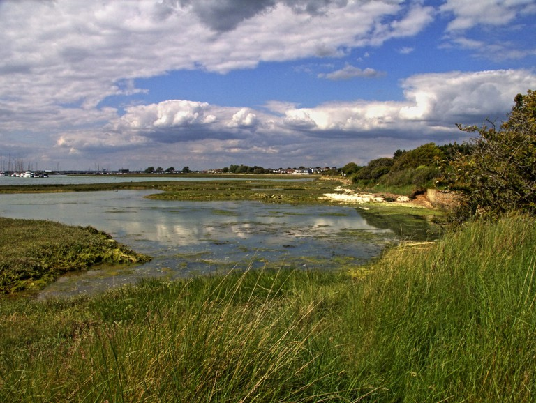 The Freshwater to Yarmouth cycle path
