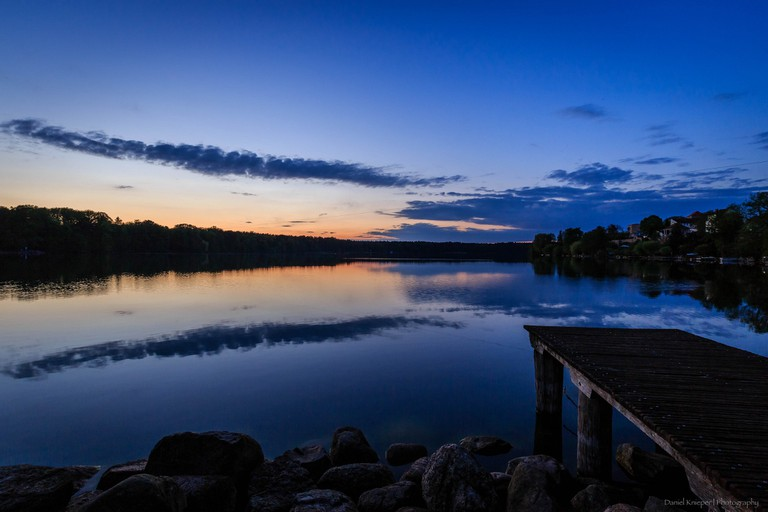 Straussee at dusk