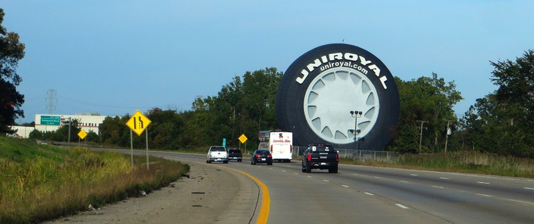 The world's largest tire in Allen, MI