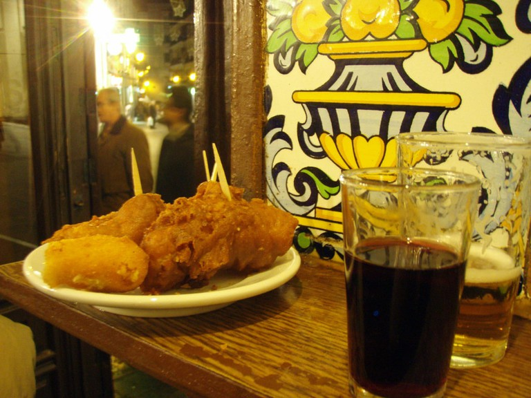 Cod pieces and croquettes at Casa Labra, Madrid