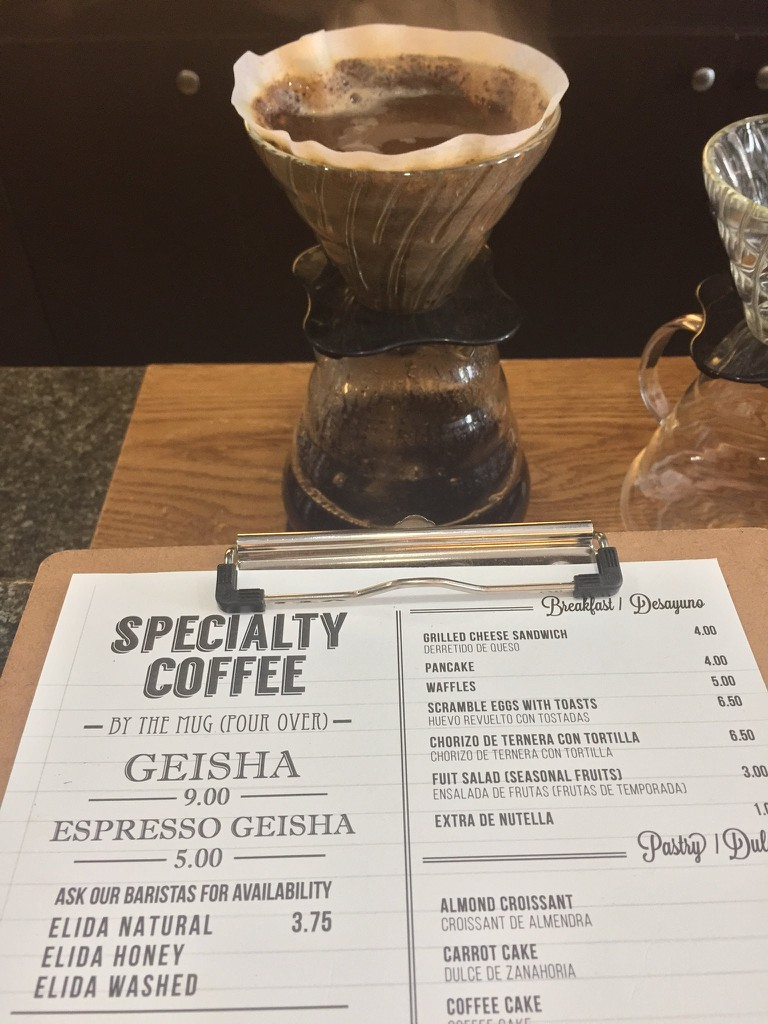 Geisha coffee is a must when in Panama