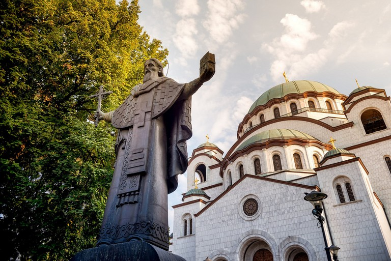 Saint Sava protects the church that takes his name