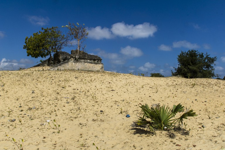 Ruins in the sand in Jaffna