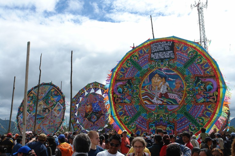 Giant kites at Sumpango, Guatemala