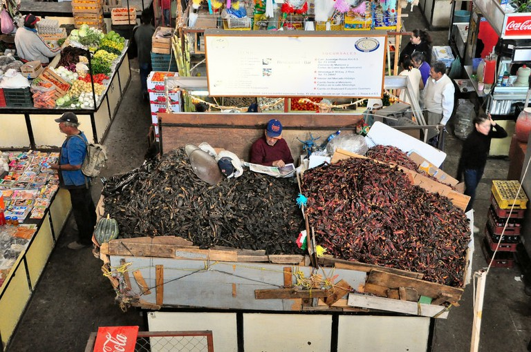 Dried chiles for sale at Mercado Hidalgo, Guanajuato