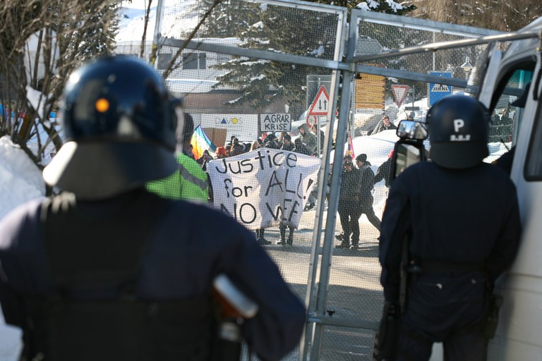 Protests at the 2009 WEF in 2009