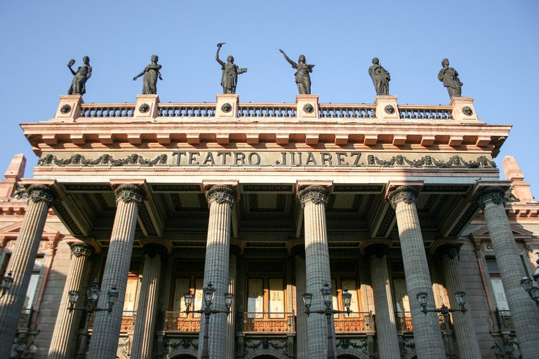The lavish Teatro Juarez in Guanajuato was completed in 1903
