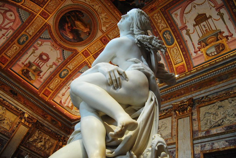 The Rape of Proserpina by Bernini in Galleria Borghese