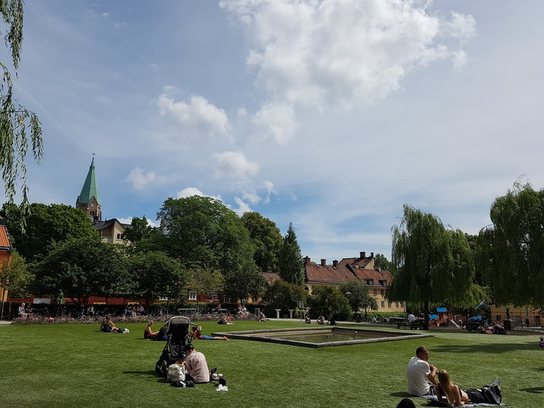 The square Nytorget is right at the centre of So-Fo